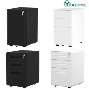 Yitahome 3 drawer Vertical File Cabinet Mobile pedestal Letter legal Document