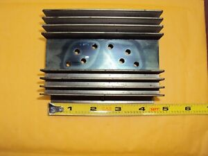 Aluminum Heat Sink Black Anodized Drilled For 2 To 3 Transistors Used