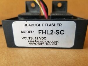 Federal Signal Fhl2 sc Universal Police Fire Headlight Flasher 12 Vdc 90 Fpm