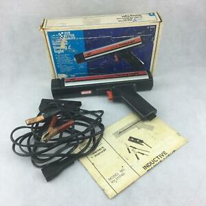 Vintage Sears Clamp On Inductive Timing Light 28 21174 With Box And Paperwork
