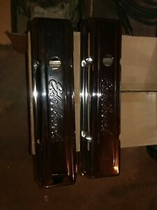 Edelbrock Valve Cover Set Small Block Chevy Sbc Chrome