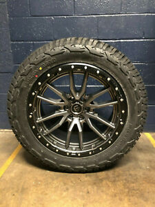 22x10 Fuel D680 Rebel Gray Wheels Rims 35 At Tires 6x135 Ford F150 Raptor