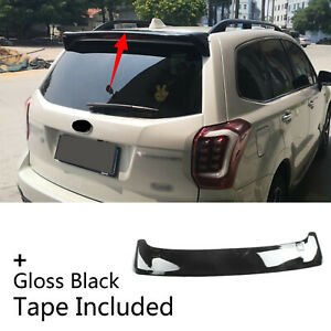 Fit Fo 2014 2018 Subaru Forester Roof Rear Window Top Trunk Lip Spoiler Wing Abs