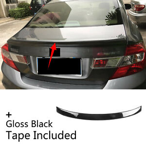 Fit For 2012 2015 Honda Civic Mk9 Sedan Rear Tail Trunk Lip Spoiler Wing Sporty