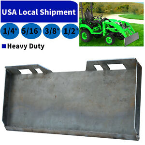 1 4 5 16 3 8 1 2 Skid Steer Loader Mount Plate Quick Tach Attachment Heavy