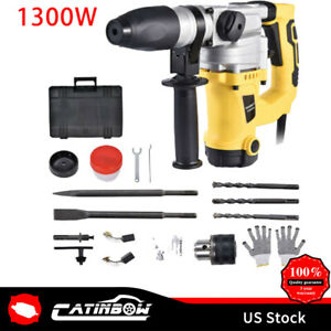 1 1 2 Electric Demolition Jack Hammer Concrete Breaker Punch Chisel Bit 1300w