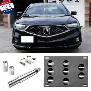 Front Tow Hook License Plate Mounting Bracket For Acura Tlx Honda Fit 2015 2018