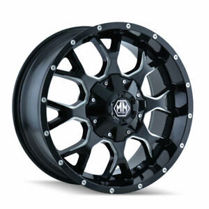 5 17x9 Mayhem Warrior Wheels 35 Mt Tires Package 5x5 Jeep Wrangler Tj Jk Jl