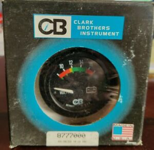 Clark Brothers Instrument 8777000 Volt Gauge 2 Black
