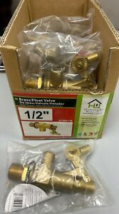 Vfl brz f3b Brass Float Valve 1 2 Mip Inlet And Outlet