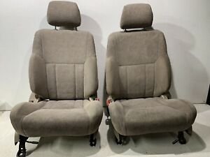 1996 2002 Toyota 4runner Left Right Front Bucket Manual Seat W Adj Headrests