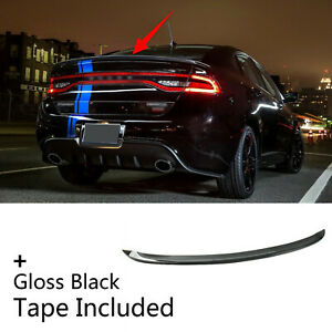 Fit For 2013 2016 Dodge Dart Sporty Style Black Rear Tail Trunk Lip Spoiler Wing