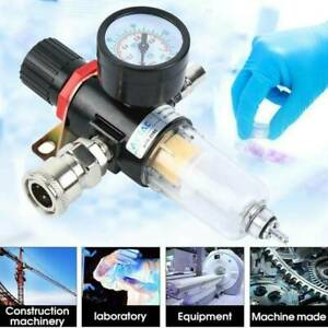 1 4 Air Compressor Filter Water Separator Trap Tools Kit With Regulator Gauge