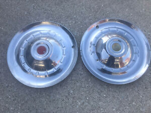 Pair 2 Vintage 1953 53 Chrysler Hubcaps Wheel Covers Hub Caps