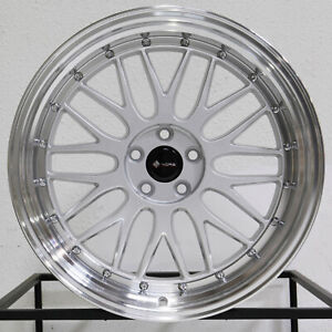 4 new 19 Vors Vr8 Wheels 19x8 5 19x9 5 5x114 3 35 35 Silver Staggered Rims 73 1