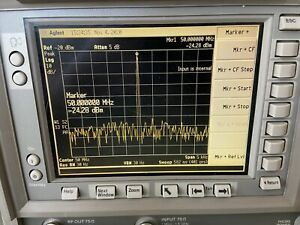 E4401b 75 Ohm W Tracking Generator 30 Hz To 1 5 Ghz Maxed W Opts Preamp rbw