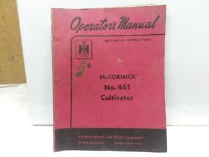 Ih Farmall Mccormick International 461 Cultivator Operator s Manual