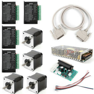 us 4 Axis Cnc Controller Kit Nema17 Stepper Motor 40mm 48oz 3 5a 40v Driver