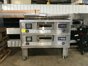 Middleby Marshall Ps770g Wow Gas Double Stack R To L Conveyor Belt Pizza Oven
