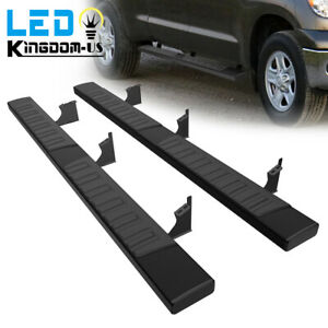 For 2005 2021 Toyota Tacoma Double Cab 6 Running Boards Nerf Bar Side Steps Blk