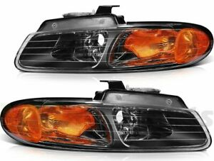 Headlight Assembly For Dodge Caravan 1996 2000 Front Replace Head Lamp Xenon