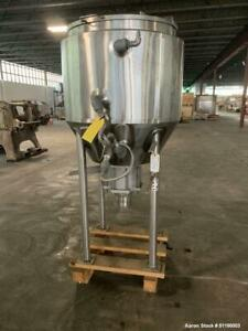 Used Feldmeier 90 Gallon Jacketed Tank Stainless Steel Vertical Approximate