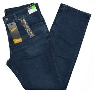 Lee #10358 NEW Men#x27;s Classic Fit Straight Leg Premium Flex Denim Voyager Jeans $21.99