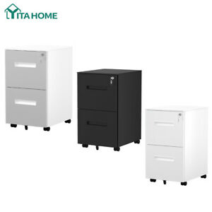 Yitahome 2 drawer Steel Rolling File Cabinet Office Furniture Organizer Vertical