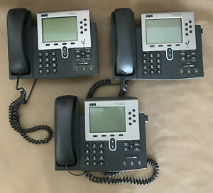 Lot Of 3 Cisco Systems Ip Phone Cp 7960g Series No Adapters