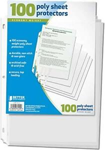 Better Office Products 81450 Sheet Protectors 100 Count