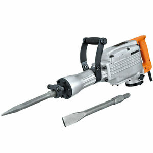 Ccti 2200w Electric Demolition Hammer 1400bpm W Point And Flat Chisels cdh65a