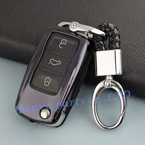 Tpu Black Car Key Chain Holder For Volkswagen Passat Jetta Golf Tiguan Up Polo