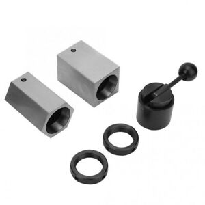 5c Collet Block Set Hex Square Rings Collet Closer Handle For Milling