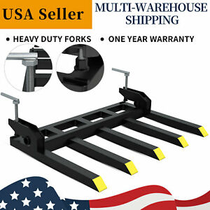 42 Clamp On Debris Forks For Tractor Skid Steer Loader Buckets Pallet Forks