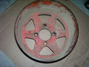 Vintage Ji Case Dc Tractor Cast Iron Belt Pulley 7 1 4 Wide 1950