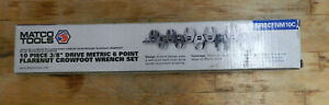 Matco 3 8 Dr 10 Piece Metric 6 Point Flare Nut Crowsfoot Wrench Set Srbcfnm10c