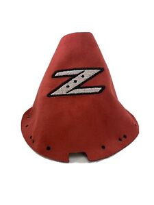 Fits 03 08 Nissan 350z Shift Boot Embroidered Z Red Suede White Logo