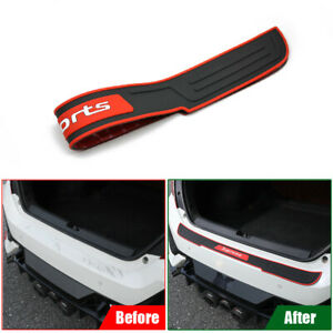 Rubber Car Rear Bumper Protector Trim Strip Trunk Sill Guard Scratch Cover Parts