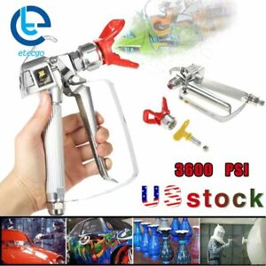 3600psi Airless Paint Spray Gun With 517 Tip tip Guard Sprayers Us Fast Shipping