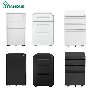 Yitahome 3 drawer Vertical File Cabinet Storage Mobile Office Metal With Key