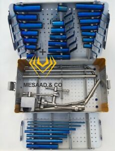 New Tubular Spine Retractor Complete System Set With Sterilize Box By Mesaad