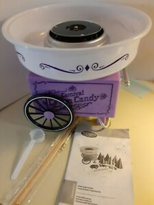 Nostalgia Electrics Candy Cotton Candy Maker Pink Uses Granulated Sugar