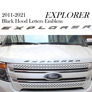Us Ship Gloss Black Hood Emblem Letters 11 18 For Ford Explore Sport Decals