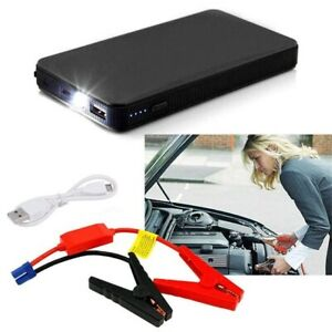 12v Mini Portable Car Jump Starter 20000mah Power Booster Battery Charger Bk