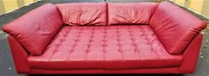 Custom Huge 6 X 8 Foot Real Leather Tufted Home Theater Media Room Movie Sofa