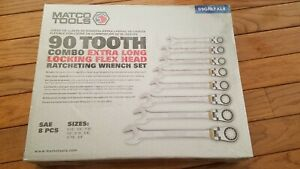Matco 90 Tooth Combo Extra Long Locking Flex Head Ratcheting Wrench S9grlfxl8