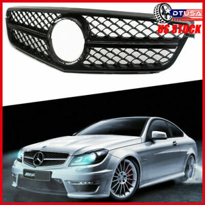 Piano Black C63 Amg Grill Grille For Mercedes Benz W204 C180 C200 C230 07 14