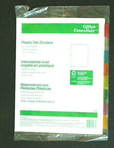 Avery 8 Tab Binder Divider Insertable Multicolor Office Essential 3 Sets Lot