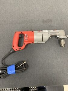 Milwaukee 1107 1 7 Amp Corded 1 2 In Corded Right angle Drill Free Shipping