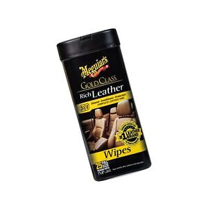 Meguiars G10900 Gold Class Rich Leather Wipes For Car Seat 25 Wipes